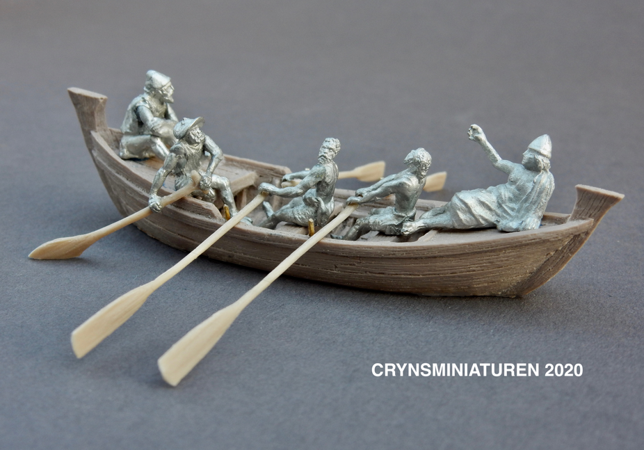 resin cast with pewter figurines