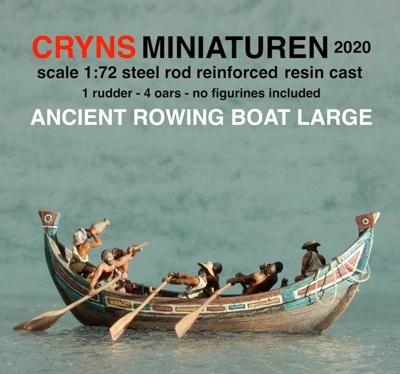 ancient rowing boat large crynsminiaturen