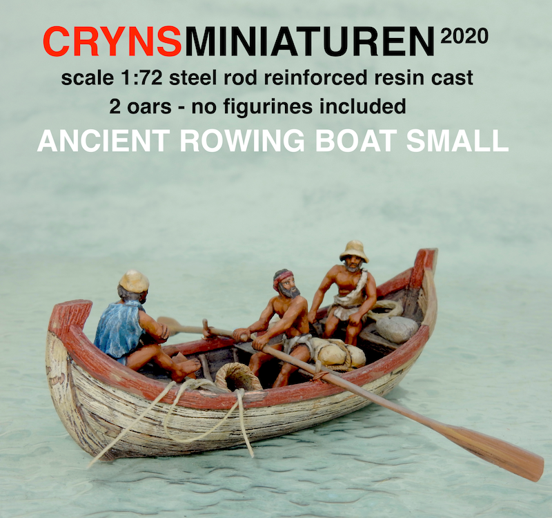 ancient rowing boat small crynsminiaturen